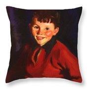 Smiling Tom Thomas Cafferty 1924 Throw Pillow