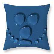 Smily Face Made Of Water Drops Throw Pillow