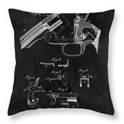 Smith And Wesson Model 3 Patent Throw Pillow