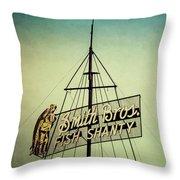 Smith Bros Fish Shanty Throw Pillow
