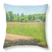 Smith Farm In June 2016 Throw Pillow