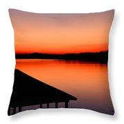 Smith Mountain Sunset Throw Pillow