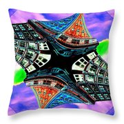 Smith Tower Fractal Throw Pillow