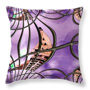 Smith Tower In King Street Station Throw Pillow
