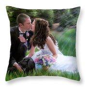 Smith Wedding Portrait Throw Pillow