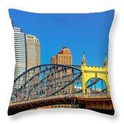 Smithfield Street Bridge Throw Pillow