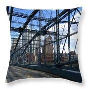 Smithfield Street Bridge Three Throw Pillow