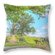 Smiths Battery Devils Den Gettysburg Throw Pillow