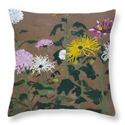 Smith's Giant Chrysanthemums Throw Pillow