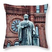 Smithsonian Castle  Throw Pillow