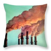 Smog Industrial II Throw Pillow
