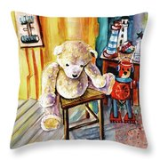 Smogenbear Throw Pillow