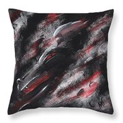 Smoke Dragon Throw Pillow