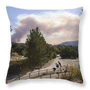 Smoke From Ventura Wildfire, View Throw Pillow