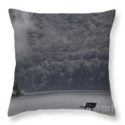 Smoke Off The Water Throw Pillow