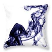 Smoke Photography - Blue Throw Pillow