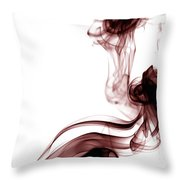 Smoke Photography - Red Throw Pillow