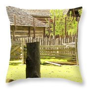Smoke Rising Throw Pillow