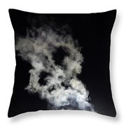 Smoke Skull Throw Pillow