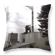 Smoke Stack Throw Pillow