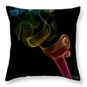 smoke XVI Throw Pillow