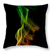 smoke XXII Throw Pillow