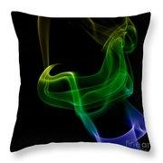 smoke XXIV Throw Pillow