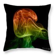 smoke XXVIII Throw Pillow