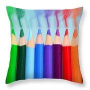 Smoked Colors Throw Pillow