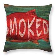 Smoked Fish Throw Pillow
