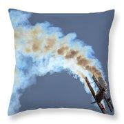 Smokey Biplane Throw Pillow