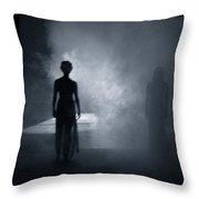 Smokey Ghosts Throw Pillow