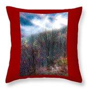 Smokey Mountain Ridge Throw Pillow