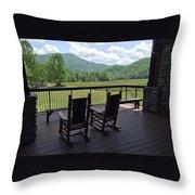 Smokey Mountain Serenity Throw Pillow