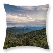 Smokey Mountain Sky Throw Pillow