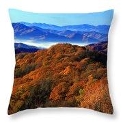 Smokey Mountain Sunrise Throw Pillow