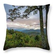 Smokey Mountain Sunset Throw Pillow