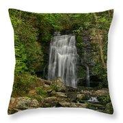 Smokey Mountain Waterfall Throw Pillow