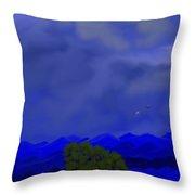 Smokey Mountains Landscape Throw Pillow