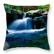 Smokey Mountains Mountain Stream 4 Throw Pillow