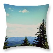 Smokey Mountains, Tn Throw Pillow