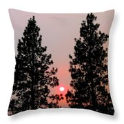 Smokey Okanagan Sunset Throw Pillow