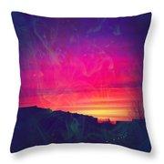 Smokey Purple Sunrise Throw Pillow