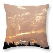 Smokey Skies Sunset Throw Pillow