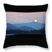Smokey Sunset Poetry Throw Pillow