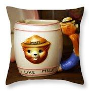 Smokey The Bear Mug Throw Pillow