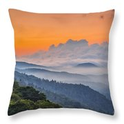 Smokies Paradise. Throw Pillow