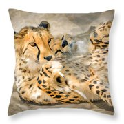 Smokin Cheetah Love Throw Pillow