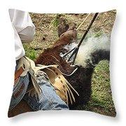 Smokin' Hot Throw Pillow