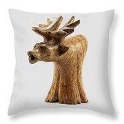 Smokin' Moose Throw Pillow